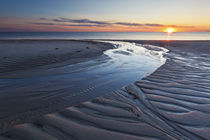 Sand patterns at sunset on Bound Brook Island, Cape Cod Nati... by Danita Delimont