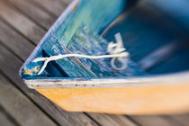Skiff on the dock in Wellfleet Harbor in Wellfleet, Massachusetts by Danita Delimont