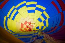 USA, Massachusetts, Hudson, Ballon Festival, hot air balloon interior von Danita Delimont
