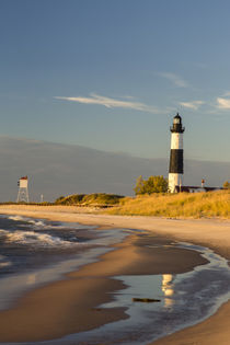 Big Sable Point Lighthouse on Lake Michigan at Ludington Sta... by Danita Delimont