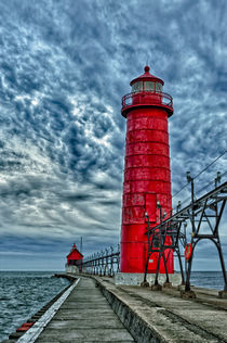 USA, Grand Haven, Michigan, lighthouse by Danita Delimont