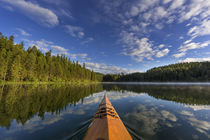 Kayaking on Beaver Lake in the Stillwater State Forest near ... von Danita Delimont