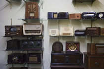 USA, Nebraska, Aurora, Plainsman Museum, antique radios by Danita Delimont