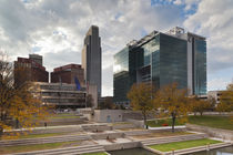 USA, Nebraska, Omaha, Gene Leahy Mall, skyline, late afternoon by Danita Delimont