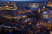 Caesars Palace and The Strip, seen from Eiffel Tower replica... by Danita Delimont