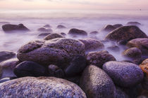 Rocks on the coast at dawn, Rye, New Hampshire. von Danita Delimont