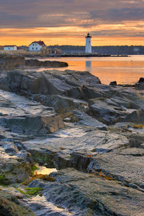 Portsmouth Harbor Light House as seen from New Castle Common... by Danita Delimont