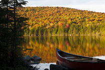 A canoe on the shoreline of Pond of Safety in the Randolph C... von Danita Delimont