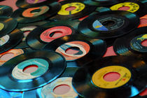 Collection of Vinyl Records, Wildwood, New Jersey, USA by Danita Delimont