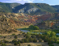 Mountainous landscape of Rio Chama near Abiquiu, New Mexico, USA by Danita Delimont