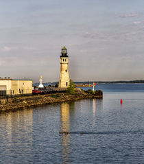The Buffalo Main Lighthouse on the Buffalo River New York State. by Danita Delimont
