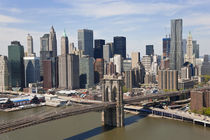 Lower Manhattan and Brooklyn Bridge New York City, USA by Danita Delimont