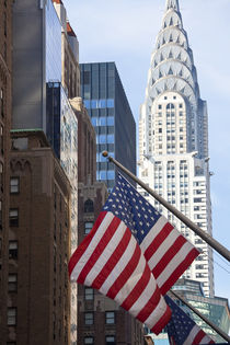 Chrysler Building with Star & Stripes, New York, USA by Danita Delimont