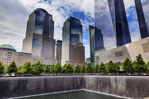 World Trade Center Memorial Pool Fountain, New York, NY by Danita Delimont