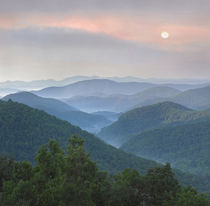 Sunrise over Pisgah National Forest from Blue Ridge Parkway,... by Danita Delimont