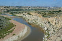 River bend in the Roosevelt National Park, North Dakota, USA von Danita Delimont