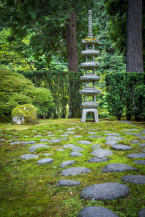 Pagoda in the Japanese Garden, Portland, Oregon, USA. by Danita Delimont