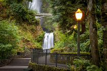 Walkway leading to Multnomah Falls along the Columbia River ... by Danita Delimont