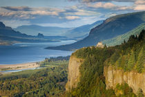 Overlooking the Vista House and the Columbia River Gorge, Oregon, USA. by Danita Delimont
