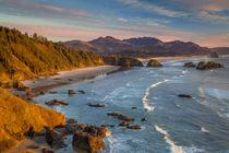 Sunset over the coastline near Cannon Beach, Oregon, USA by Danita Delimont