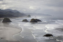 OR, Oregon Coast, Ecola State Park, Crescent Beach, Cannon B... von Danita Delimont