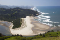 OR, Cascade Head, view of beach and Salmon River by Danita Delimont