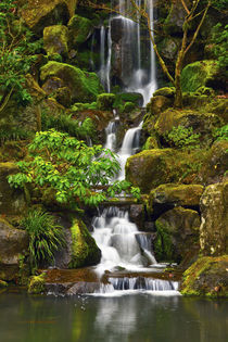Heavenly Falls, Portland Japanese Garden, Portland, Oregon, USA by Danita Delimont