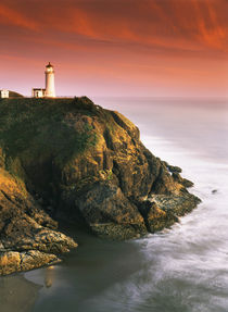 USA, Oregon, Washington Coast, View of North Head Lighthouse von Danita Delimont
