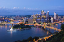 Pittsburgh Pennsylvania skyline from Mt Washington of downto... by Danita Delimont