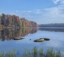 Lake Jean in autumn, Ricketts Glen State Park, Pennsylvania, USA by Danita Delimont