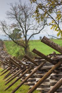 USA, Pennsylvania, Gettysburg, Battle of Gettysburg, battlefield fence von Danita Delimont