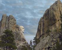 George Washington's face at Mount Rushmore National Memorial... by Danita Delimont