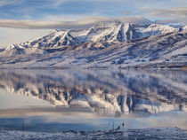 USA, Utah, Heber Valley, Winter reflection of Mount Timpanog... by Danita Delimont