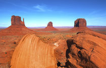 Monument Valley Utah desert mittens in panoramic of Western ... by Danita Delimont
