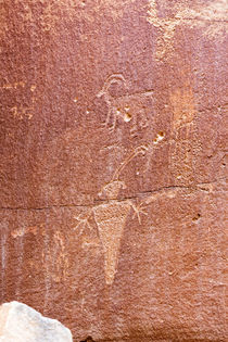 USA, Utah, Capitol Reef National Park, Fremont petroglyphs. by Danita Delimont