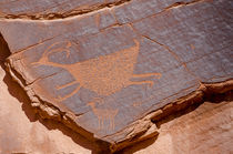 Petroglyphs at Sun's Eye, Monument Valley Navajo Tribal Park... by Danita Delimont
