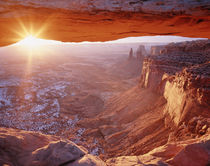USA, Utah, Canyonlands National Park, View of Mesa arch at sunrise von Danita Delimont
