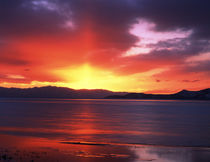 USA, Utah, Sunset over Farmington Bay by Danita Delimont