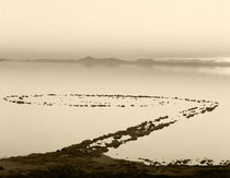 USA, Utah, Spiral jetty above Great salt lake by Danita Delimont