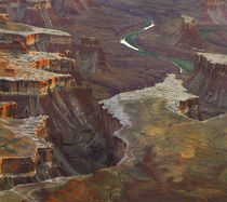 Aerial viewed from the Green River Overlook, Canyonlands Nat... by Danita Delimont