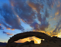 Dramatic sunrise over Sunset Arch, Escalante National Monument, Utah by Danita Delimont