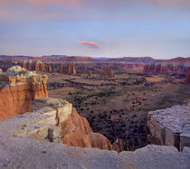 Sunset at Upper Cathedral Valley, Capitol Reef National Park, Utah by Danita Delimont