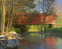 USA, Virginia, Newport, Covered bridge over Sinking Crook von Danita Delimont