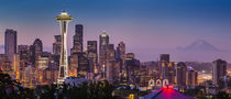 Dawn Twilight over Seattle Skyline, Washington USA by Danita Delimont