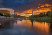 USA, Washington, Spokane, Riverfront Park, Spokane River, Clock Tower by Danita Delimont