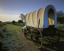 USA, Washington, Whitman Mission National Historic Site, Covered Wagon by Danita Delimont