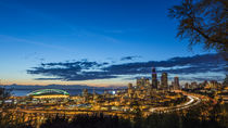 City skyline from Jose Rizal Park in downtown Seattle, Washi... by Danita Delimont