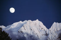 USA, Washington State, North Cascades, Full moon over snowca... by Danita Delimont