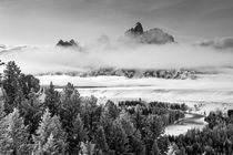 Grand Teton and layers of Fog, Snake River Overlook by Danita Delimont