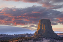 WY, Devils Tower National Monument, Sunset by Danita Delimont